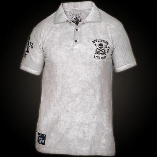 Affliction Polo T Shirt Tread 163 W XXXL