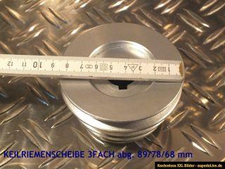 KEILRIEMENSCHEIBE 3 FACH abg. 89/78/68mm DREHBANK MASCHINENANTRIEB