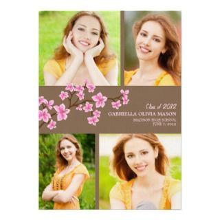 Cherry Blossom  Graduation Announcement by PinkMoonPaperie