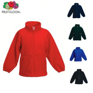Fruit of the Loom Kinder Fleece Jacke Kids 104  164 Neu