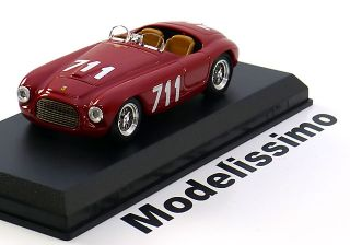 43 Art Model Ferrari 166 MM #711 Mille Miglia 1950
