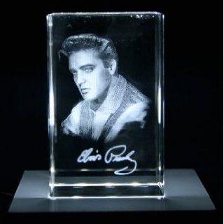 VIP LASER Glaskristall XL 3D Autogramm Elvis Presley