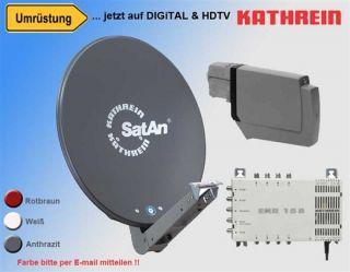 Sat Anlage Spiegel CAS 90 LNB UAS 584 EXR 158 Digital Neu Frachtfrei