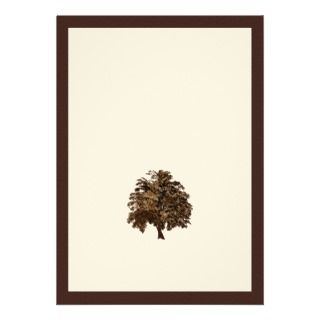 Brown Oak Tree Wedding Invitation invitation
