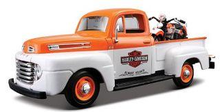 Harley Davidson FL Panhead,Ford F1 Pick up Maisto,124,NEU,Modellauto