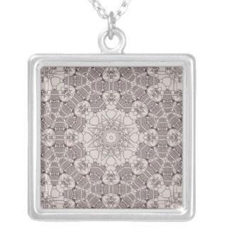 Steampunk Mandala Diagram Necklaces
