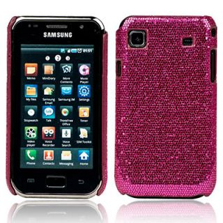 HOT PINK GLITTER CASE COVER FOR SAMSUNG GALAXY S I9000