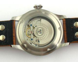 Parnis 47mm Luxury Case Power Reserve Auto Watch E216