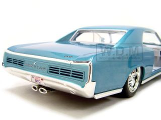 Brand new 118 scale diecast model of 1966 Pontiac GTO Blue die cast