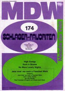 MDW Schlager Favoriten 174 Noten Klavier Paul McCartney