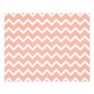 Coral and White Zig Zag Pattern. Custom Flyer