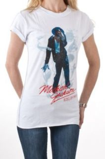 Amplified Damen kurzarm T Shirt MICHAEL JACKSON KING OF POP SMOKE