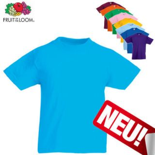 Fruit of the Loom Kinder T Shirt Kids Gr. 104   164 Neu