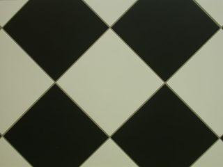 67 Euro/m²) Bodenfliesen schwarz weiß, Schachbrett 30x30