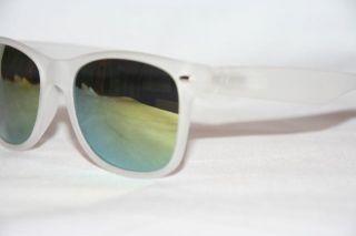 Retro Sonnenbrille 80er Jahre gummierter Rahmen Soft Touch verspiegelt