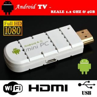 P4You Android 4 0 TV Internet Box Computer PC 1080P FULL HD WIFI HDMI
