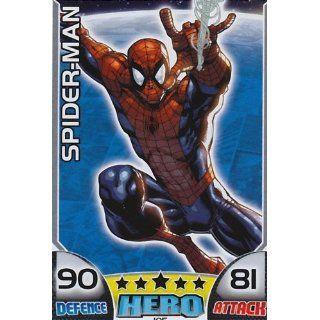 Topps MARVEL Hero Attax 105 SPIDER MAN Hero Card Spielzeug