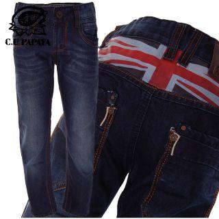 Jeans Hose British Flag  C.U Papaya by Chilong Gr.110 176