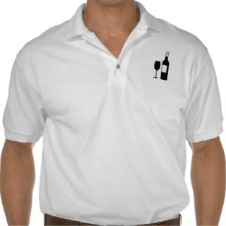 Wine bottle glass polo shirts