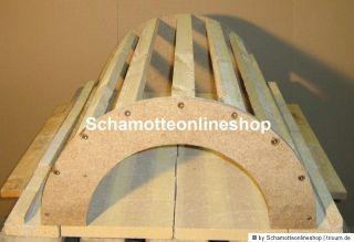 Aus Spanplatte und Dachlatten fertigt man sich eine Schablone des