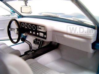 1966 PONTIAC GTO BLUE 1/18 DIECAST MODEL CAR BY HOTWHEELS CLASSICS
