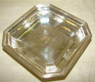 eckige Silberschale 800 , mittig Gravur 12.Mai 187/5082