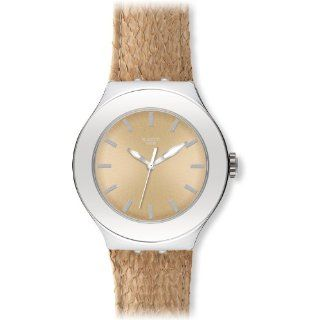Swatch Damen Armbanduhr Salmon Gold YNS121 Swatch Uhren