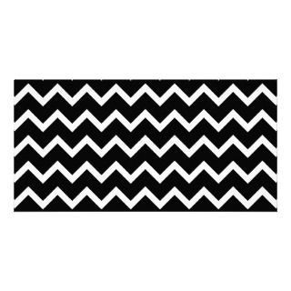 Black and White Zig Zag Pattern. Photo Card