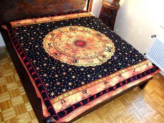 Tagesdecke Couch Überwurf Decke Sternzeichen Ocker 17
