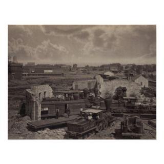 American Civil War Destroyed City of Atlanta Announcements