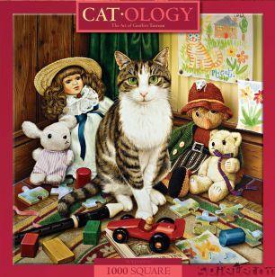 Catology Pollyanna 1000 Teile XL Katzen Quadratpuzzle Masterpieces