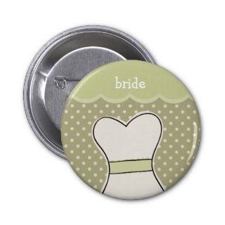 Bride    Wedding dress // GREEN Buttons