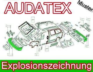 Audatex NEU Explosionszeichnung Fiat Multipla 186