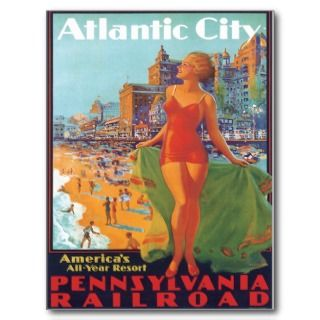 Atlantic City New Jersey ~ Pennsylvania Railroad Postcards