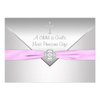 Boy Baptism Christening Personalized Announcements