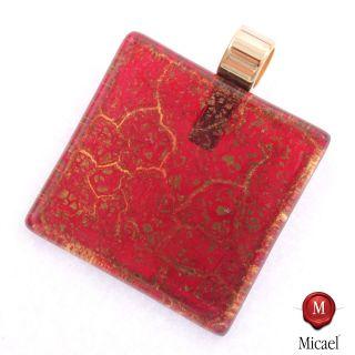 Ein edler Anhänger aus Murano Glas Modell Pinta  rot gold