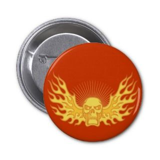 Flame Wing Buttons