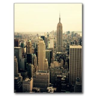 New York City Skyline Midtown Postcards