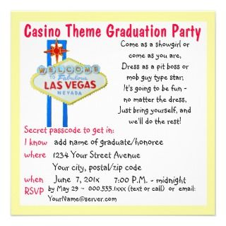 Theme Party Invitations, 95 Casino Theme Party Announcements & Invites
