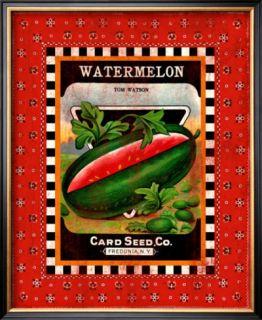 Watermelon Seed Pack Framed Giclee Print