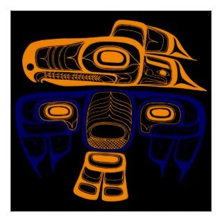Native American Art Tlingit thunderbird Poster