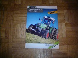 Prospekt Fendt Farmer 206 S bis 209 S Traktoren
