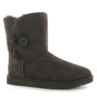 Ugg Australia Bailey Button Chocolate Sheepskin Womens Boots