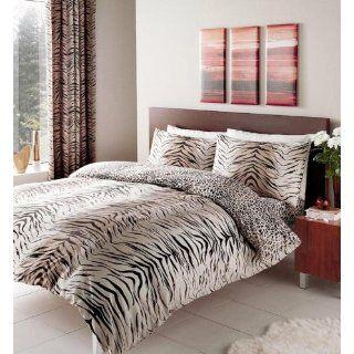 Tiger Skin Animal Print Bettwäsche, Bettbezug 137 x 200cm Kissenbezug