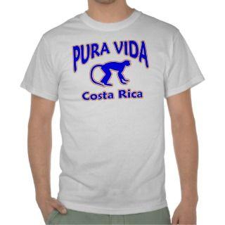 Pura Vida Costa Rica Blue Monkey T Shirt