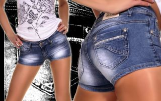 Hot Crazy Age Jeans Hose Hot Pants Shorts KnackPo Neu
