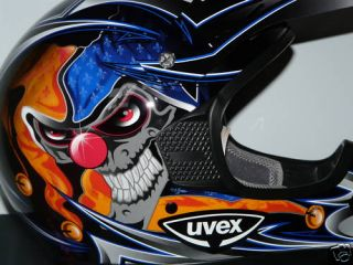 Moto Cross Helm SX 215 schwarz  blau shiny Dekor Gr. XL