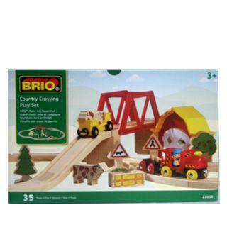 Brio Holzeisenbahn Bahn mit Bauernhof Set # 33050 Eisenbahn aus Holz