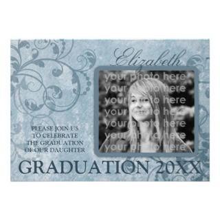 Elegant Floral Parchment Graduation Announcements
