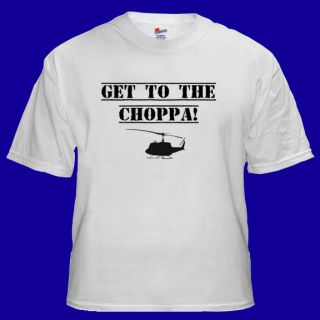 Get To THe CHOPPA Funny Arnold Movie T shirt S M L XL